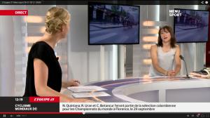 Justine Halbout en direct sur la chaine TV l'équipe 21